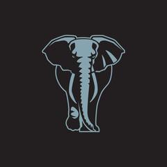 elephant sign logo emblem vector illustration-08