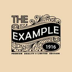 Vintage Elegant Line Art Logo, Emdlem and Monogram Design, vector template