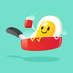 Good morning, Smile for sweet breakfast, Vector illustration
