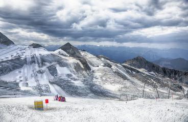 Ski resorts Hintertux Glacier, summer snow