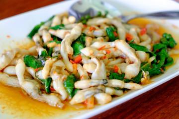 shellfish stir fielded basil