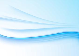Elegant blue waves on a white paper background