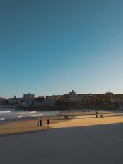 Bondi Beach with few people