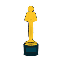 human shape trophy icon image vector illustration design