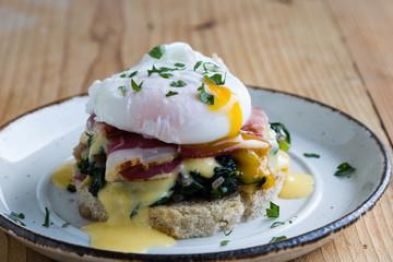 rustic eggs benedict