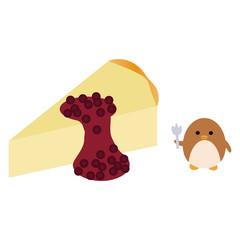チーズケーキとペンギン