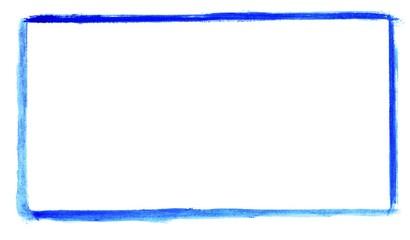 Handgemalter Rahmen aus blauer Farbe