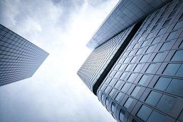 Wolkenkratzer Frankfurt - Blick nach oben