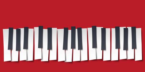 piano - musique - clavier - symbole - graphique - affiche - clavier de piano - fête de la musique