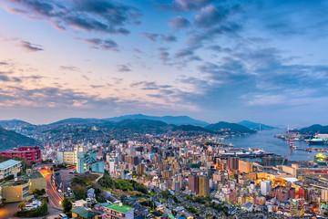 Fototapete - Nagasaki, Japan Cityscape
