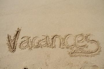 inscription vacances sur le sable
