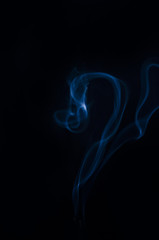 smoke, smoke on black background
