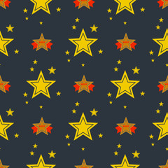 Seamless pattern with stars decorative modern print wallpaper colorful texture design decoration vector illustration.