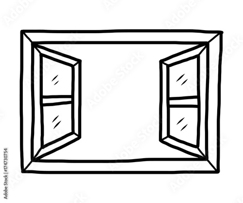 """Open Window Clipart Clipart Suggest: """"open Window / Cartoon Vector And Illustration, Black And"""