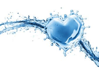 Water splash in the form of a heart. Fototapete
