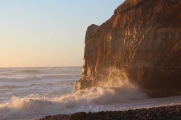 Puesta de sol sobr el mar de Chile