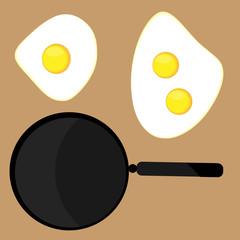 Scrambled eggs vector icon.