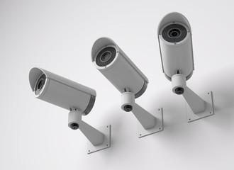 Surveillance CCTV security camera. 3D rendering