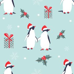 Holiday pattern with lovely penguins.