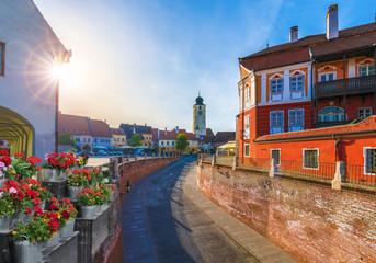 Wall Mural - View of historical center of Sibiu, Transylvania, Romania.