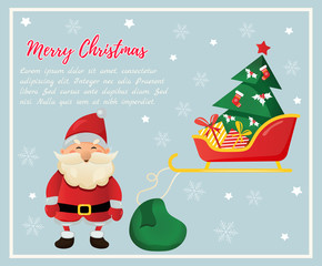 Christmas. New Year background with santa claus