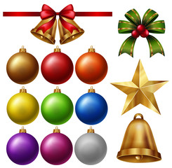 Chrismas ornaments with balls and bells