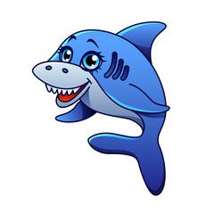 Cartoon shark isolated vector illustration