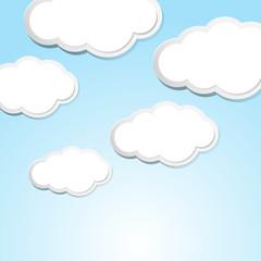 Sky scene with clouds in blue sky