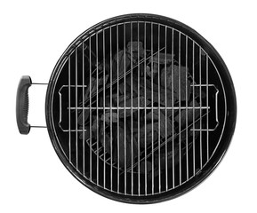 Barbecue grill on white background