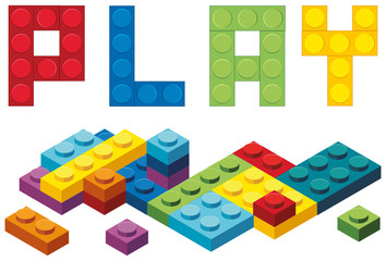 Word play and colorful blocks
