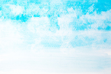 Abstract beautiful light blue watercolor and texture isolated on white background