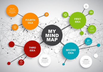 Mindmap Idea Infographic