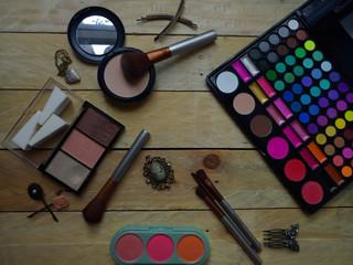 Composition of autumn  makeup