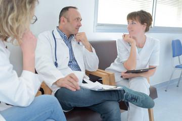 team of doctors having a meeting in the meeting room