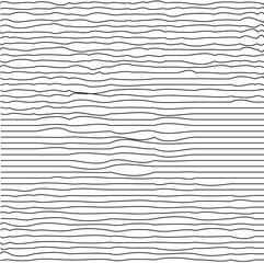 Modern trendy minimal waves seamless pattern. Black lines Repeating texture. Hipster monochrome background. Vector illustration