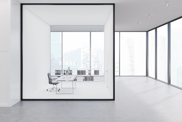 CEO office with a glass wall