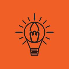 abstract bulb balloon logo design