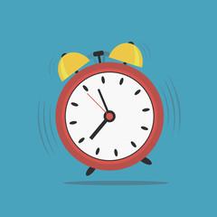 Alarm clock. Wake-up time. Vector illustration.