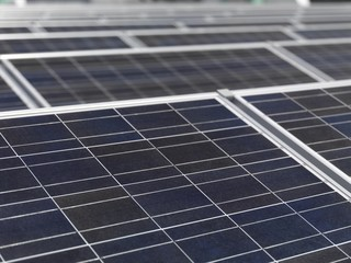 Polycrystalline solar panels, close-up