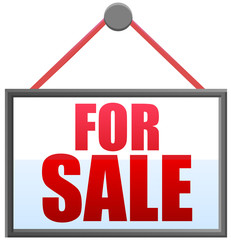 For sale sign vector image