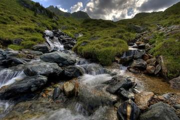 Mountain stream, Gaschurn, Montafon, Vorarlberg, Austria, Europe