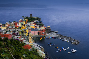 Colorful Vernazza from above