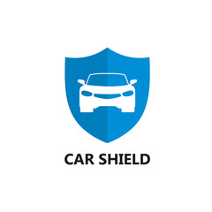 Car Shield Logo Template design