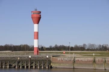 Lighthouse in Brunsbuttel, Schleswig-Holstein, Germany, Europe