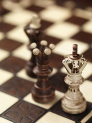 Checkmate situation on a chessboard