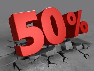 3d of 50 percent discount