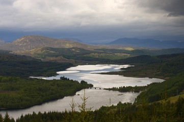Glen Garry Viewpoint Loch Garry Highlands, Scotland, United Kingdom, Europe
