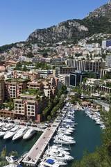 Port of Fontvieille, Monaco-Fontvieille, Monte Carlo, Principality of Monaco, Cote d'Azur, Mediterranean Sea, Europe, PublicGround