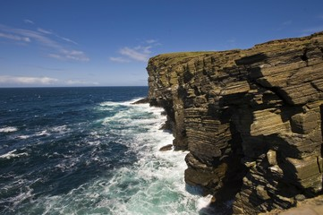 Cliffs, Orkney Islands, Scotland, United Kingdom, Europe