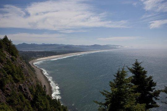 View over Tillamook-Manzanita Bay, Oregon, USA, North America